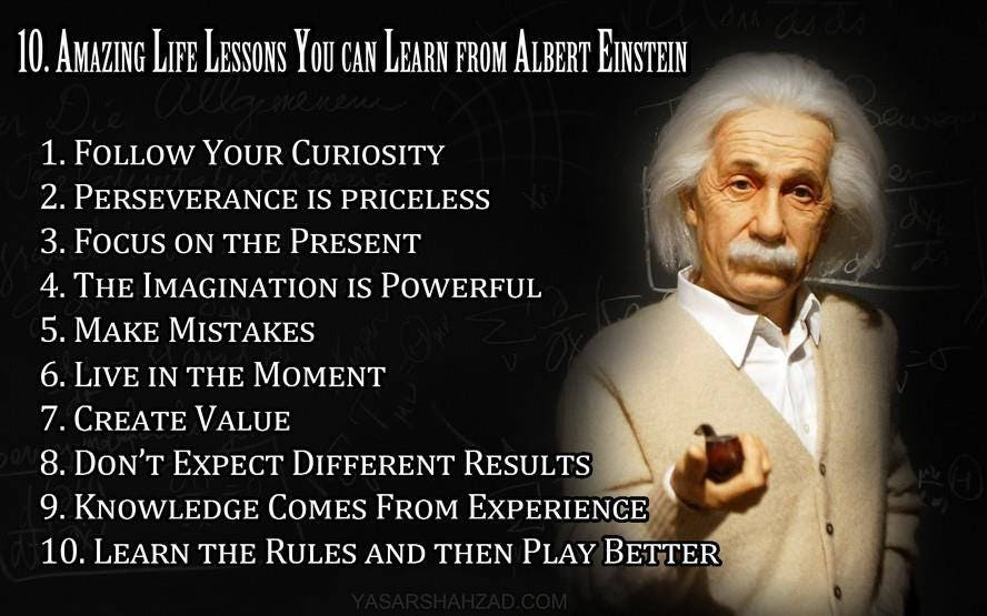 Amazing Lesson Life Albert Einstein Inspirational Quotes Etsy