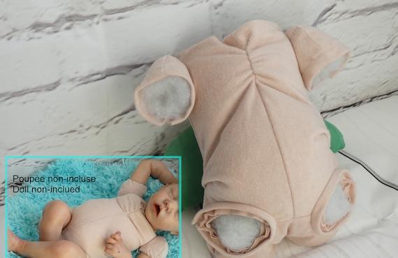 """Suede Cloth Body For 16/"""" Baby Newborn Dolls Reborn 3//4 Arm Full Leg Supplies"""