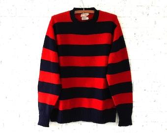 Preppy Nautical Shetland Wool Sweater  |   Vintage Men's 44