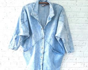 Rad Stone-Washed, Acid-Washed 1990s 1980s Denim Jacket