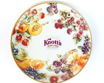 Vintage Large Knott's Berry Farm Tin Platter