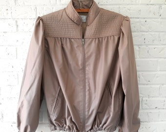 Vintage Bomber Jacket with a Feminine Twist