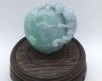 Mokey and Peach Jade pendant