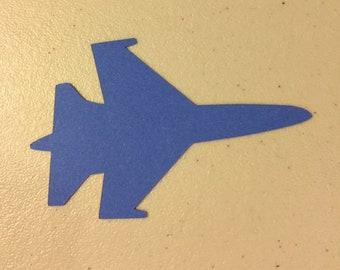 "Blue Paper Jet (3 1/2"" x 2 1/2"")"