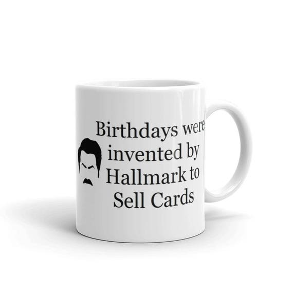 Ron Swanson Parks And Recreation Coffee Mug Cup Birthday