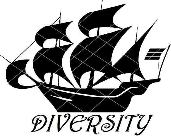Anchorman Diversity Is An Old Wooden Ship Svg Dxf Png Pdf Jpg Files Ron Burgundy Vector File Svg Dvf Pdf Png Jpg Digital Download