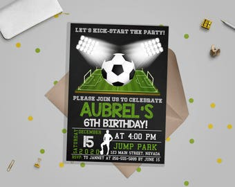 Soccer Invitation, Soccer birthday invitation, Soccer Party, Football Invitation, Sport Invitation - Instant Download Editable PDF