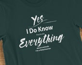 Veterinarian T Shirt I Know Everything About Animals Humorous Short-Sleeve  Jersey T-Shirt