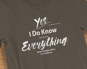 Veteran T Shirt I Know Everything Humorous Short-Sleeve  Jersey T-Shirt