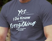 EMT T-Shirt I Know Everything About Saving Lives Humorous Short-Sleeve  Jersey T-Shirt