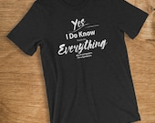 SysAdmin T Shirt I Know E...