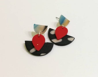 Jaclyn statement polymer clay earring