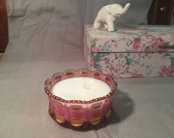 Stunning Jasmine Soy Candle with a vintage Twist