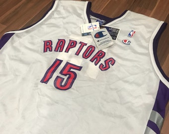 fb8c39f1a Brand new with tags Vintage Champion Toronto Raptors Vince Carter home  jersey size 48 XL White Purple Red