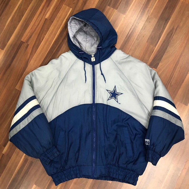 best loved 47649 a020e Vintage Logo 7 NFL Dallas Cowboys Heavy Jacket Size XL