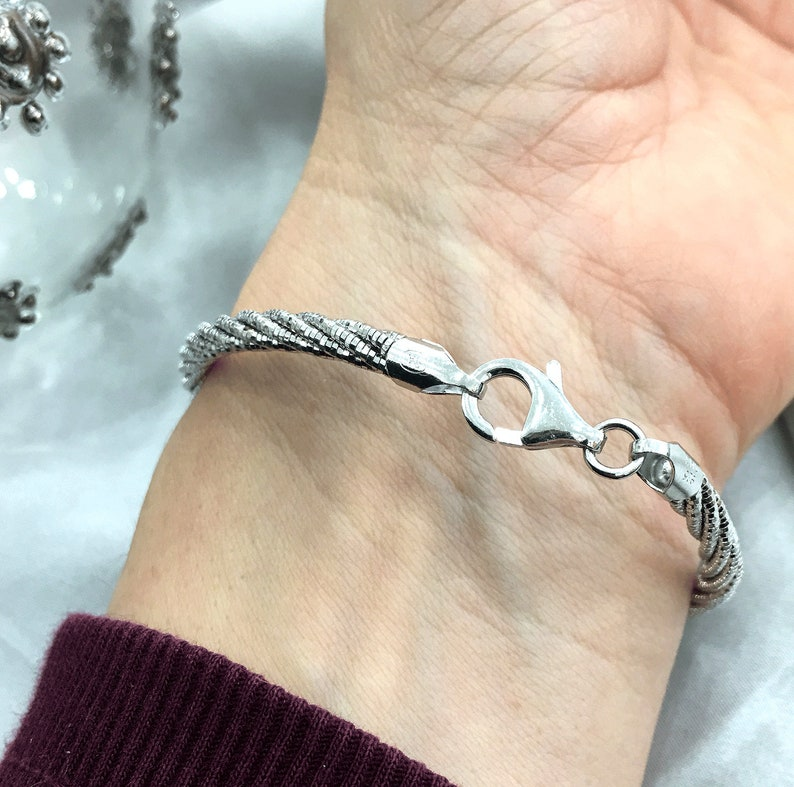 Sterling Silver Twist Weave Bracelet
