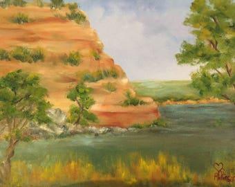 Webster Lake Plein Air Oil Painting
