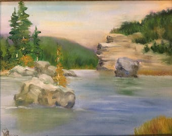 The Lake Oil Painting