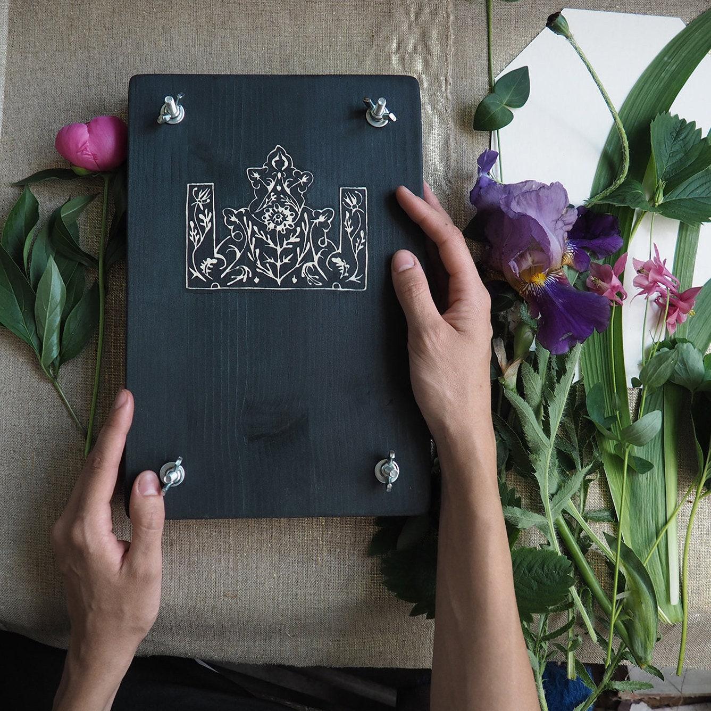 Feuille de fleur Press Kit, presse livre, livre, livre, fait à la main plante presse pour herbier bricolage et fleurs séchées, cadeau d'amant de botanique e43443