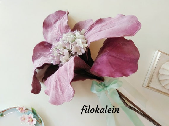 Blooming Artificial Flower Bouquet Table Decoration Ideas Etsy