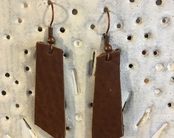 "1"" straight Leather Earrings"