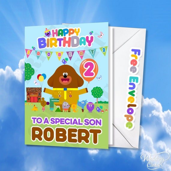 Hey Duggee PERSONALISED Birthday Card Any NAME AGE