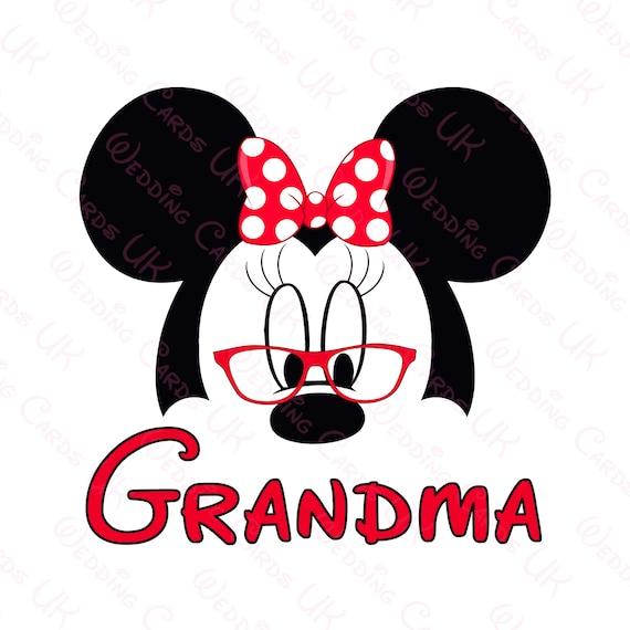 Grandma Minnie Mouse Mom Mickey Mouse Dad DIY | Etsy