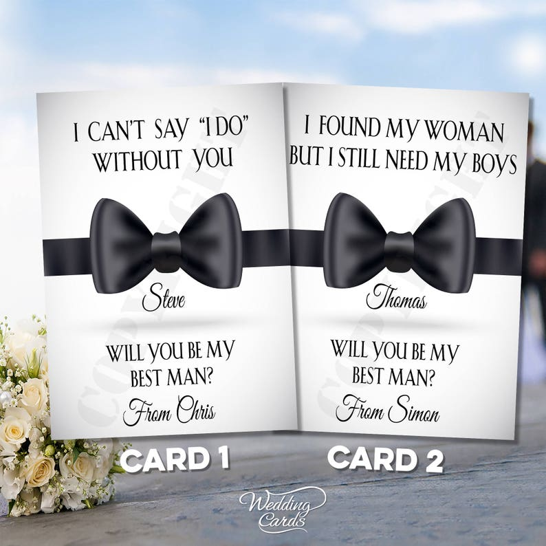 Usher Groomsman Personalised Tag Card /'Will You Be My Best Man Page Boy/'