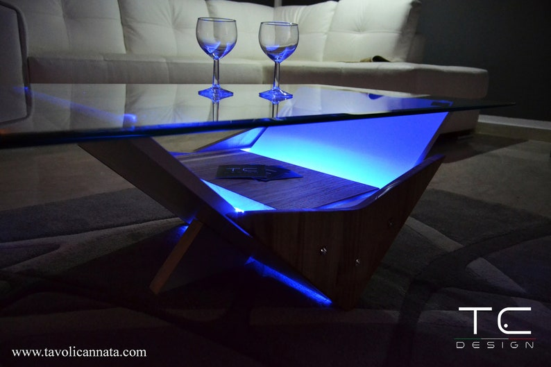 Coffee Table   Coffee Tables   Wooden Coffee Table   Modern Coffee Table  Led Lights   Glass Coffee Table   Led Living Room Table