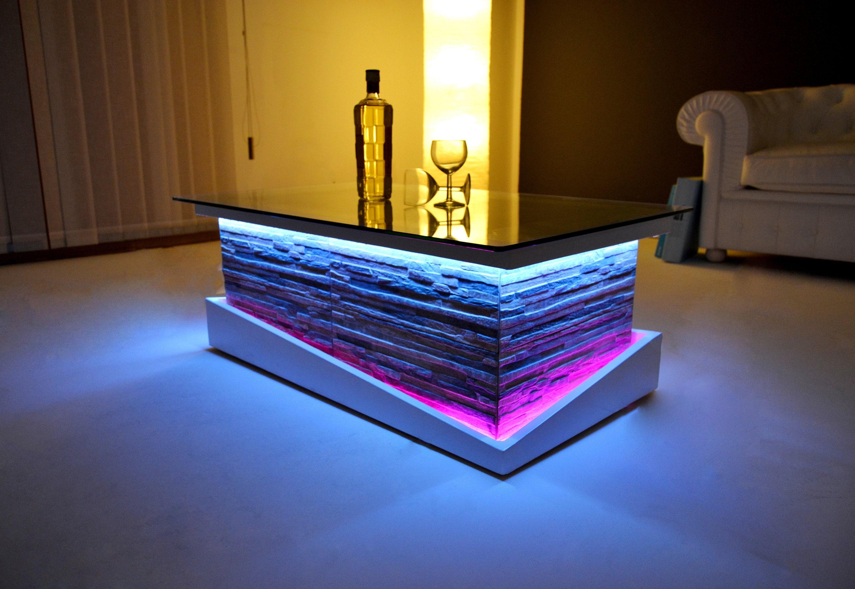 Inside Design Salontafel.Modern Coffee Table Rustic Living Room Design Unique Light Etsy