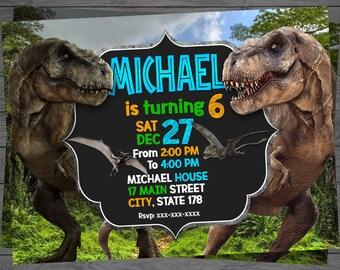 Jurassic World Invitation, Jurassic World Birthday, Jurassic World Party, Jurassic World Card, Jurassic World Printable, Jurassic World