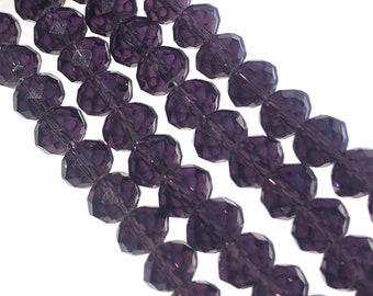 Pcs AB Czech Crystal Glass Faceted Rondelle Beads 6 x 8mm Dull Magenta 70
