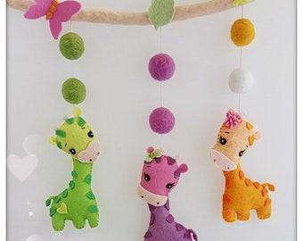 """Mobile DIY Kit """"Giraffe"""" felt"""