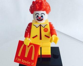 Lego Style Ronald McDonald Minifigure