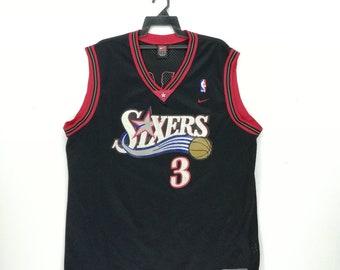 Vintage NIKE Allen Iverson Philadelphia Sixers Basketball Jersey size XXL  Men s e45eead83