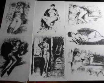 12 Nudes, Douze Nus de Gloutchenko, presentees par Florent Fels  -  Official Reprint 1992
