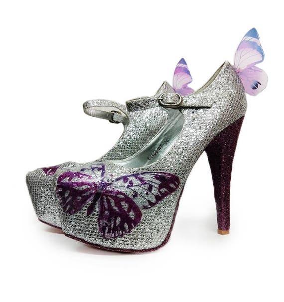 glitter high heels uk