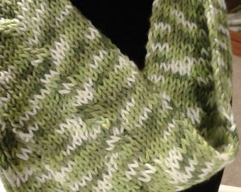 Green variegated scarf