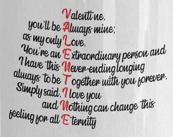 Love poem mug   Etsy