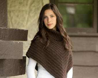 Crocheted Cowl Neck Poncho (sizes: 5-7 years, women S-M) - Ready to Ship
