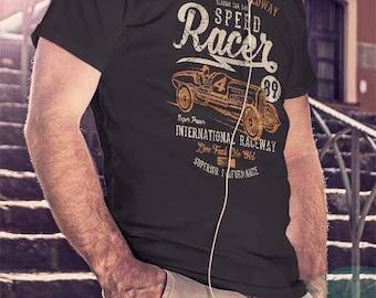 T-shirt motorbike petrolhead speed racing wheels engine 4784 Loud and proud