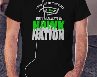 31a80509d Seahawks Men T-shirt Jersey NFL Tee Shirt Football T shirt Seattle Seahawks  Shirt Superbowl Tshirt Super Bowl Fan Gift Hawk Nation