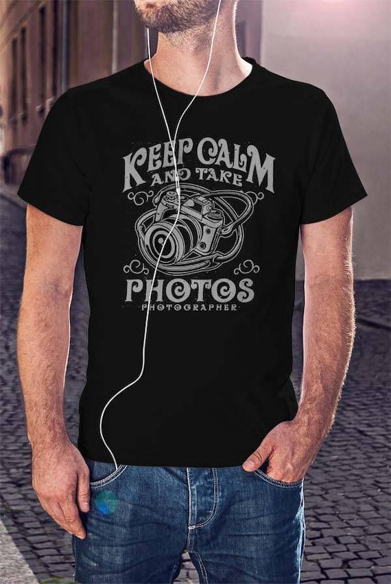 7969a15200 Keep Calm And Take Photos T-shirt Photographer Tee Photography | Etsy