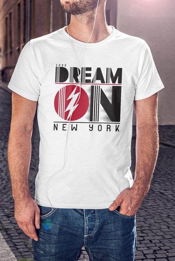 b4e2e747 Dream On New York Men Black Or White T-shirt New Yorker Shirt | Etsy