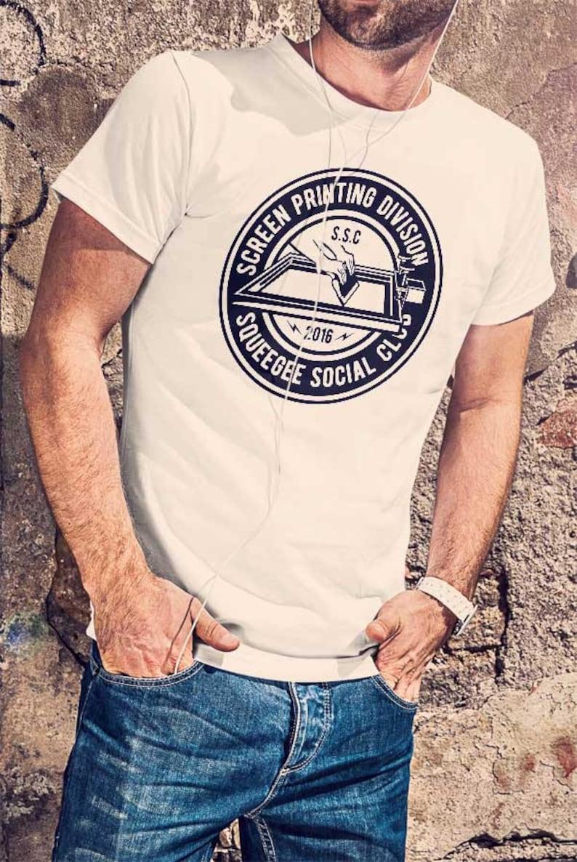 6697a14554f2 Screen Printing Division Men Black Or White T-shirt Printing | Etsy