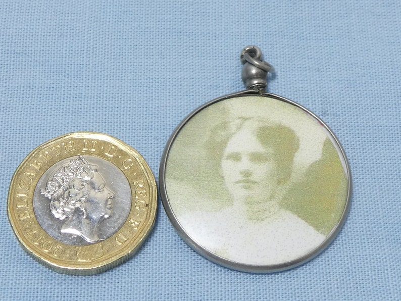 Antique Sterling Silver French Photo Picture Locket Momento Double Sided Steam Punk
