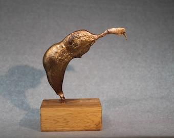 Small bronze figure poetic and humorous
