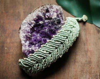 Boho.oho turquoise macrame summer bracelet