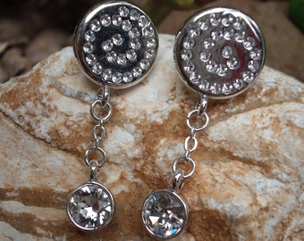 Handcrafted with Swarovski crystals earrings