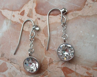 Earring adorned with Swarovski crystals